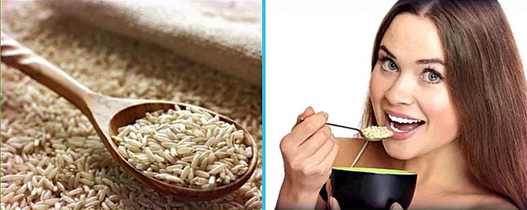 Натуральный нешлифованный рис