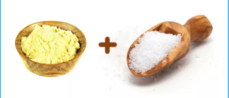 Лечебная паста из соли и горчицы
