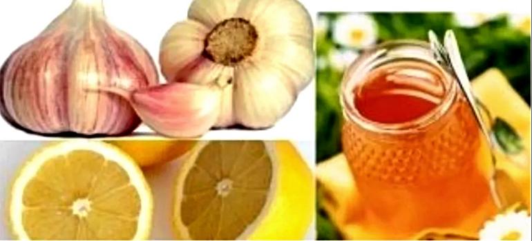 Вода с лимоном, имбирем и чесноком