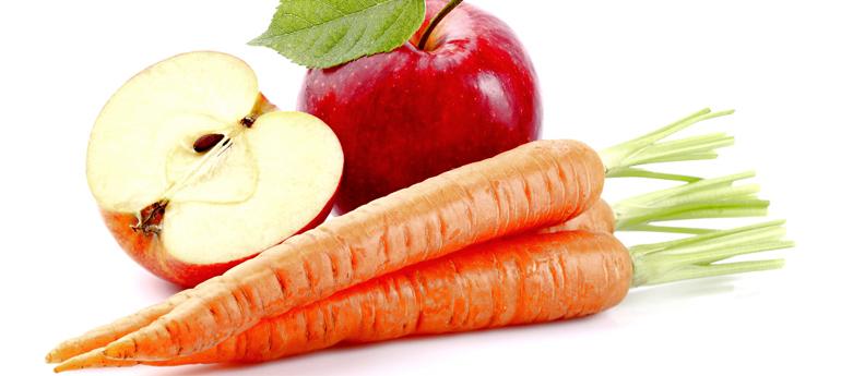 Морковь и яблоки салат