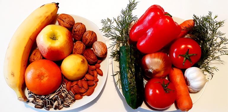 Овощи, фрукты, злаки и семечки
