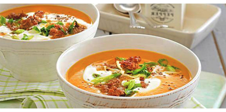 Tykvennyj sup s farshem