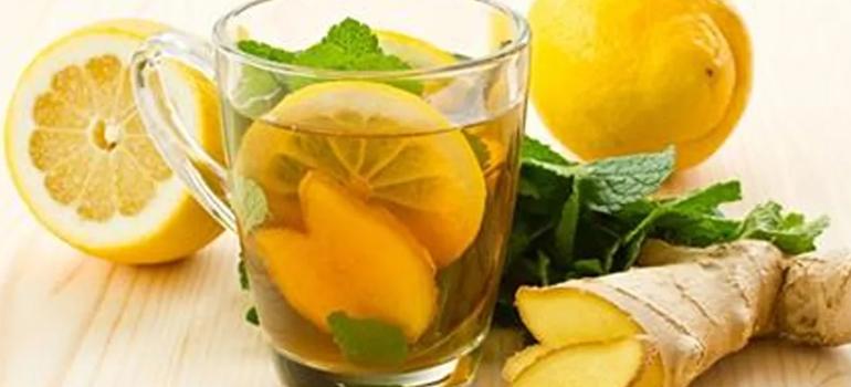 Лимонная вода с имбирем и медом