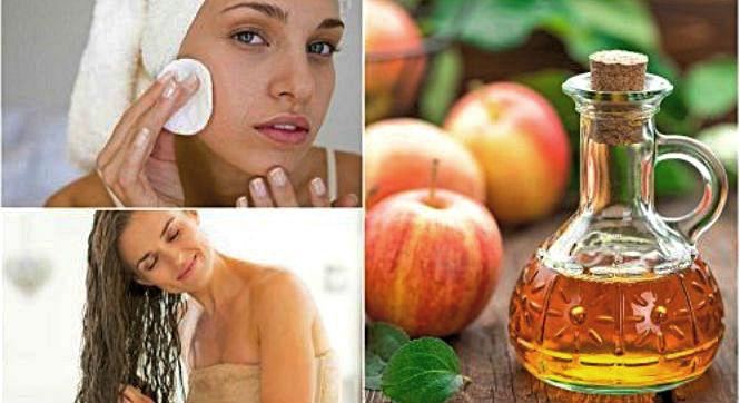 Применение яблочного уксуса для кожи лица и волос