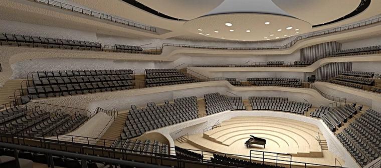 Большой концертный зал Эльбфилармонии