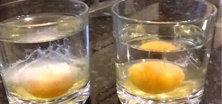 Яйцо в стакане