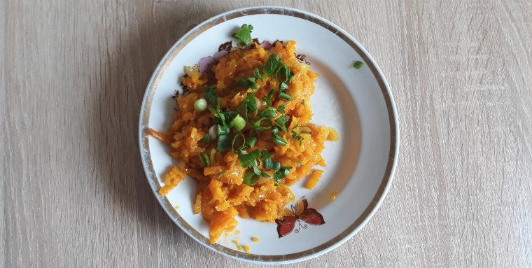 Готовая морковь с тыквой