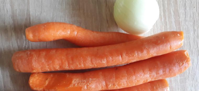 Морковь и лук для котлет