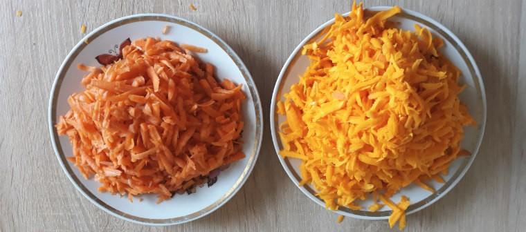 Тертая морковь и тыква