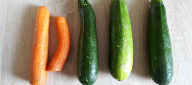 Три кабачка и морковь