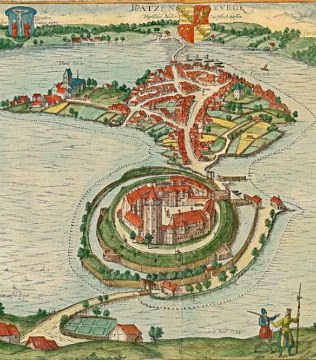 Ратцебург на старинной карте