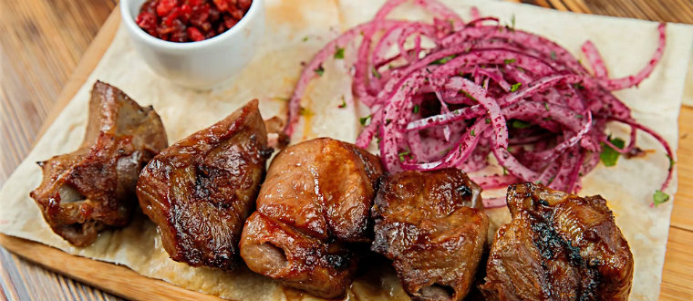 Мясо баранина с овощами