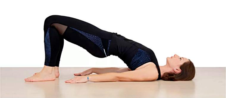 Упражнение мостик на плечах