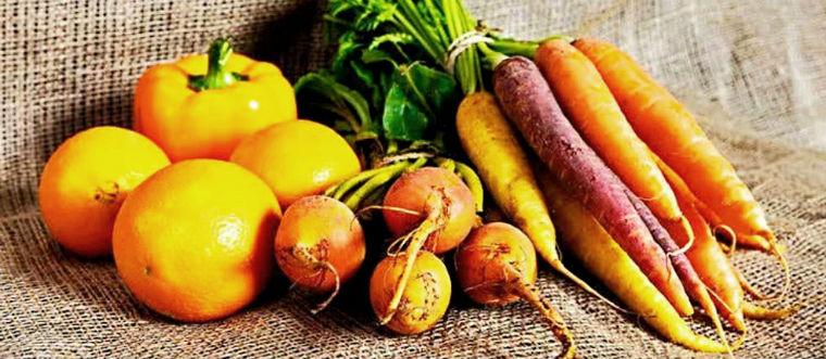 Бета-каротин в оранжевых овощах