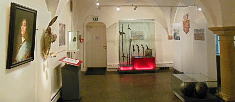 Подвал музея с личным оружием