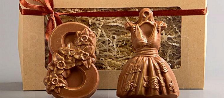 Шоколадные фигурки бабушке на 8 марта
