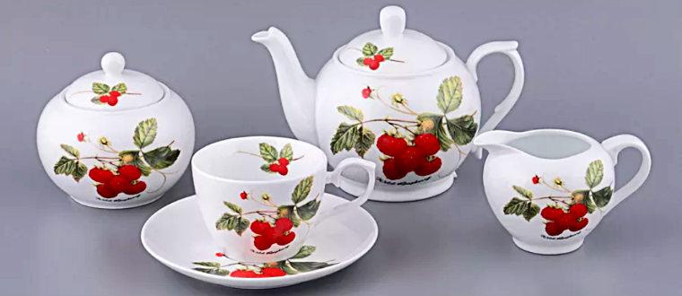 Чайный фарфоровый сервиз