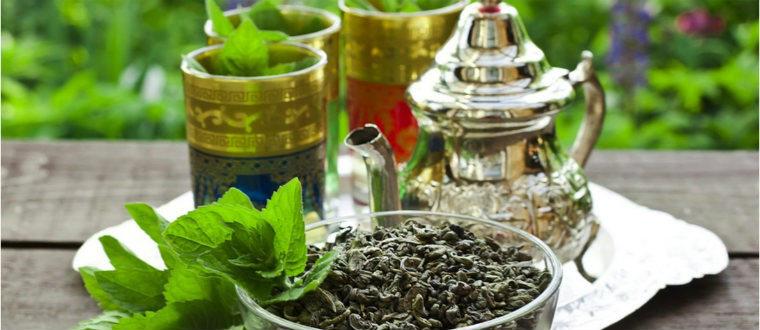 Ганпаудер с мятой по-мароккански