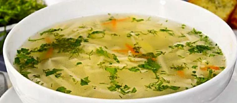 Овощной суп-лапша