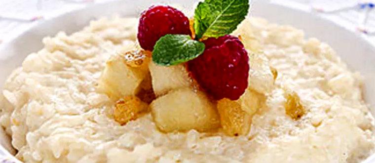 Яблочно-рисовый десерт