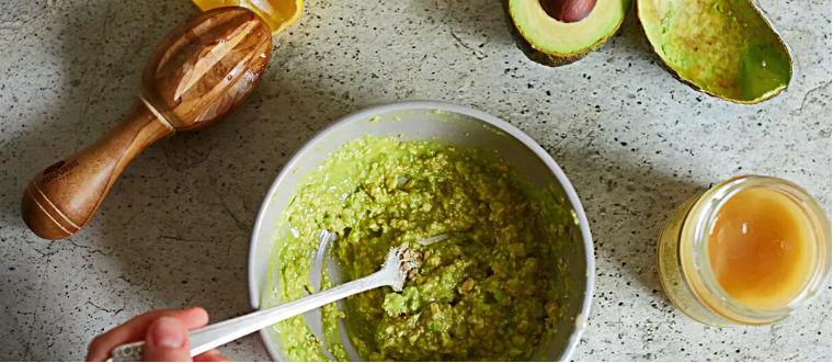Маска из зеленого чая авокадо меда
