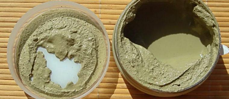 Маска из зеленого чая и глины