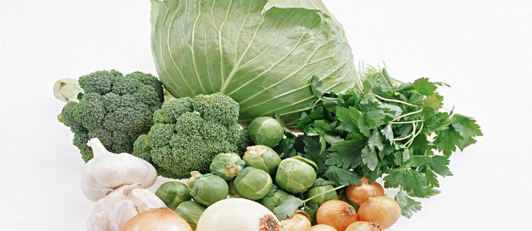 Витамины К1 в овощах