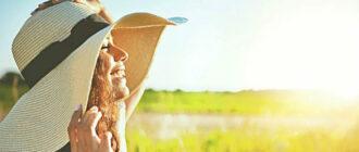 Женщина cолнце и витамин D