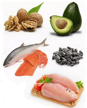 Здоровые жиры в рыбе, семечках, авокадо
