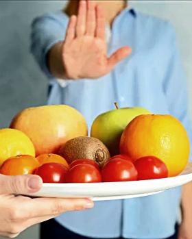Овощи и фрукты с фруктозой