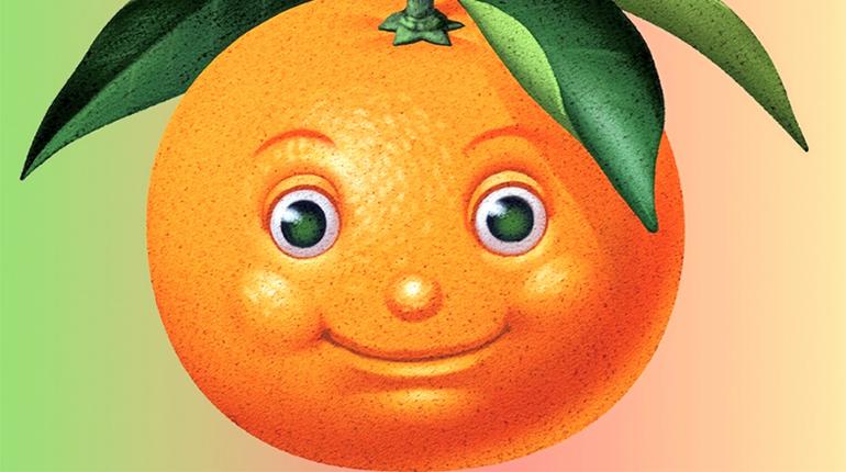 Улыбающийся апельсин