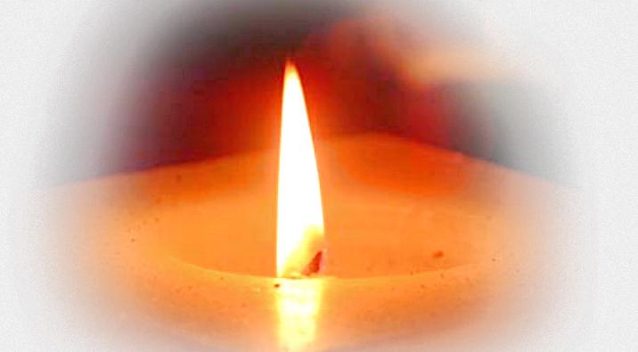 Пламя грящей свечи
