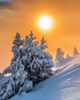 Солнце в дни зимнего солнцестояния