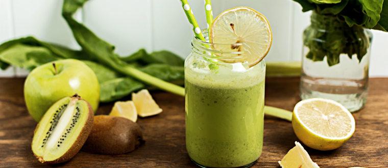 Ингредиенты для десертов бананы, киви, лимоны