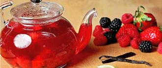 Ягоды с чаем