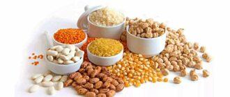 Основные растительные источники белка