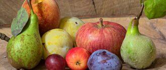 Перекусы на работе из фруктов-яблоки, груши, сливы