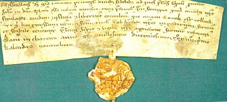 Пергамент с указом князя Витислава
