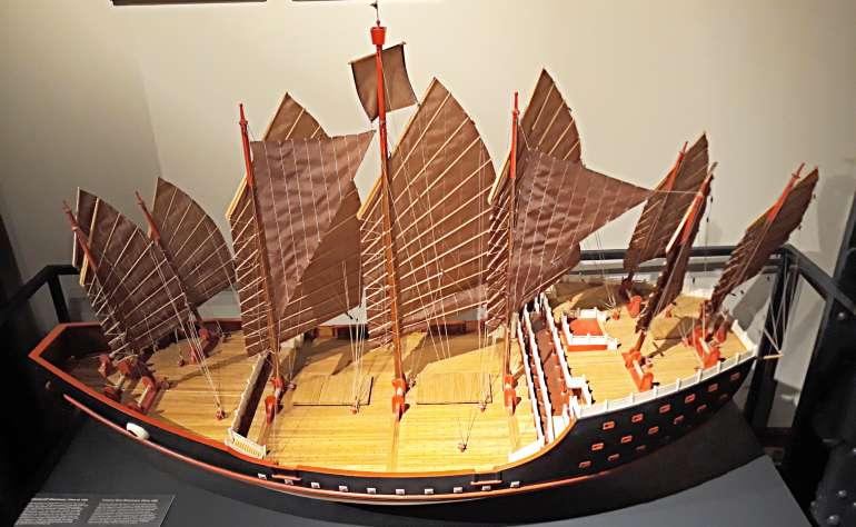 Парусное китайское судно