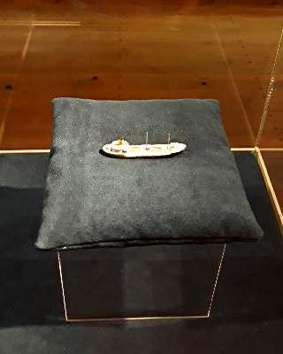 Модель корабля — первый экспонат