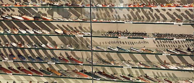 Коллекция корабельных моделей