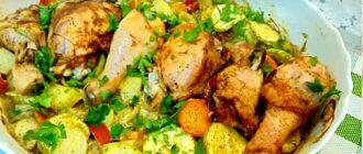 диета низкоуглеводная — овощи с курицей